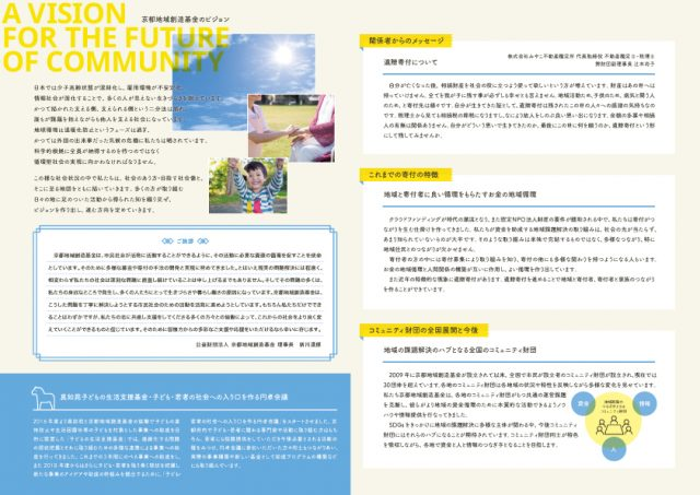 京都地域創造基金パンフレット